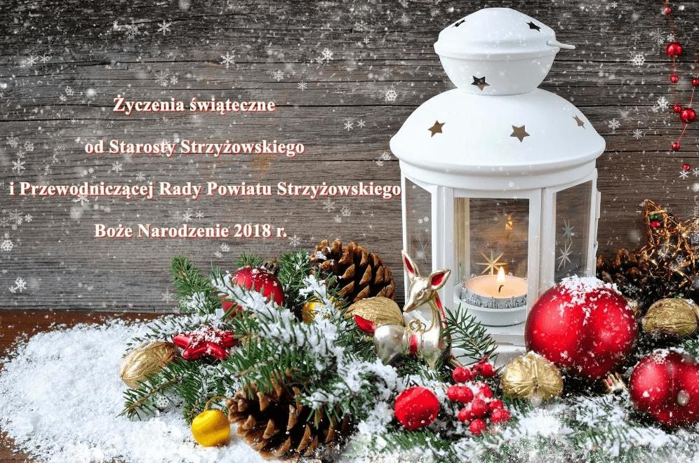 Życzenia świąteczne od Starosty i Przewodniczącej Rady Powiatu
